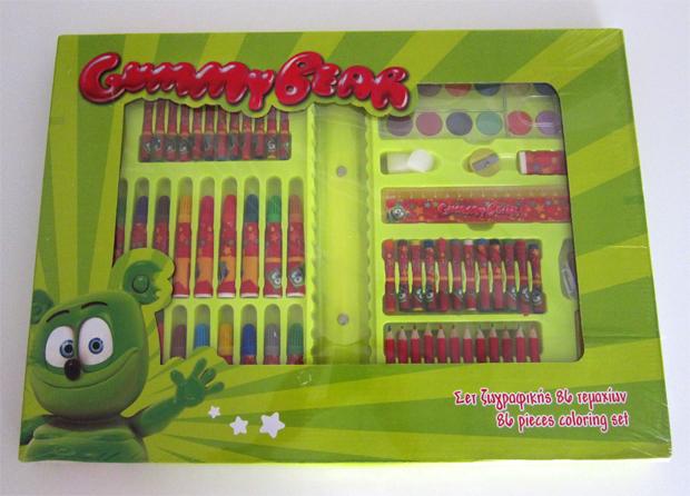 Gummibär 86 Piece Coloring Set - Gummybear International Inc.