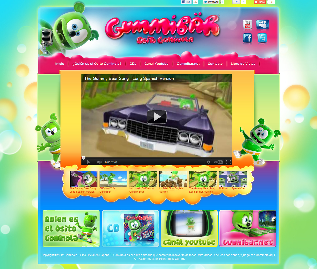 Spanish Language Website For Animated Gummy Bear Character Gummib R